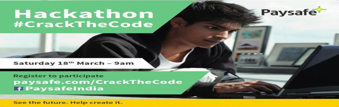 Book Online Tickets for Paysafe CrackTheCode Hackathon, Hyderabad. Paysafe, a leading global provider of payment solutions, will host Hackathon, titled #CrackTheCode - 18th March, 2017 at SLN Terminus, Hyderabad. A total of 1lakh INR of cash prize, registration is open until 17 March 2017 to experienced programmers