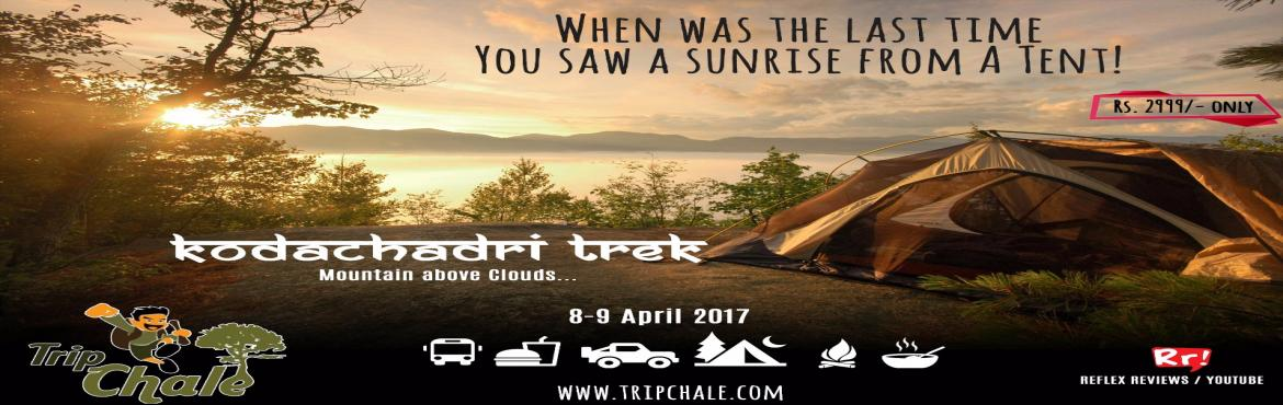 Book Online Tickets for KodaChadri Trek And Camping, Bengaluru. A trek to Kodachadri in the Western Ghats must have. Dense green forests, beautiful waterfalls, small streams, Short cliff, the sunset watched from Kodachadri peak on a clear day is an enchanting experience. The Place is famous numerous waterfalls an