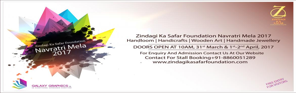 Book Online Tickets for Zindagi Ka Safar Foundation Navratri Mel, Faridabad.   Hi,   Greetings from Zindagi Ka Safar Foundation!!!   We are glad to introduce our self as one of the leading NGO working in the field of sport and   development in India. We use sport as a tool to achieve individual empowe