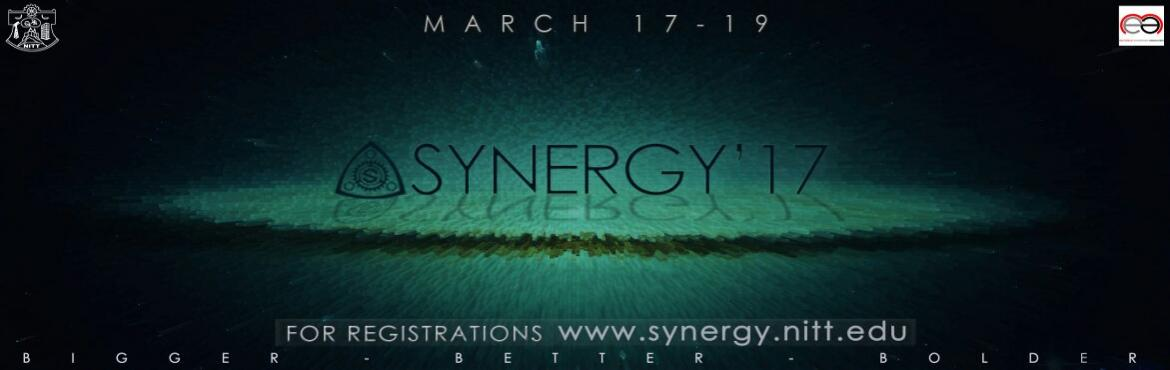 Book Online Tickets for SYNERGY, Tiruchirap.  Synergy is the mechanical symposium of National institute of technology,  thiruchirapalli . There are 11 events , 5 workshops and also 3 guest lectures. Workshops also includes Design and Automobile workshop. All our workshops are certifie