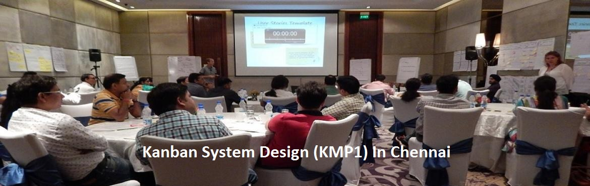"Book Online Tickets for Kanban System Design (KMP1) In Chennai, Chennai.     About The Event  ""Kanban System Design"" is a 2-day beginner to intermediate level course that begins with a detailed introduction to Kanban Method and moves on to share the STATIK approach – a powerful idea that facilitates a &l"