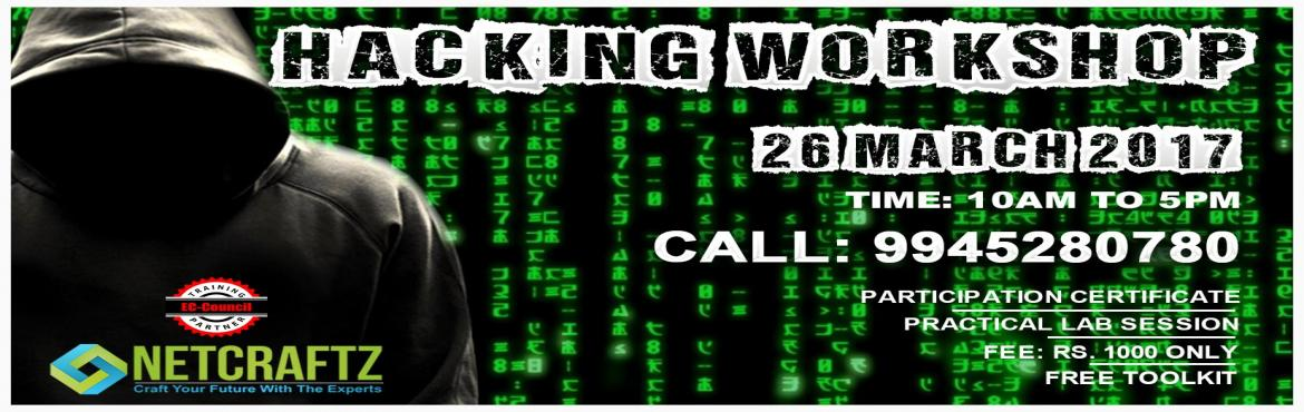 Book Online Tickets for HACKING WORKSHOP, Bengaluru. Overview of the WorkshopOne day Workshop on Ethical Hacking and Cyber Security. The focus of the workshop is to teach you how to protect yourself from the menace of hacking. During the workshop, the primary aim is to introduce you to the curren
