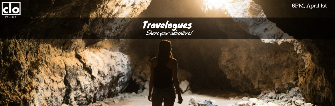 Book Online Tickets for Travelogues - Vol 4., Hyderabad. TRAVELOGUES has become a popular platform for people to share their travel adventures. In its 4 edition, we invite everyone to share some awesome travel adventures and experiences   Join other travel enthusiasts and adventurers to exchange travel tip
