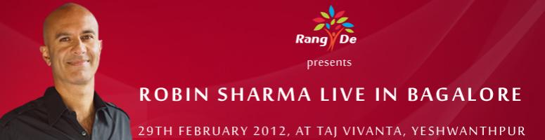 Book Online Tickets for Robin Sharma Live in Bangalore, Bengaluru. \\'Lead Without A Title\\'Winning leadership lessons to Build a Great Organization!