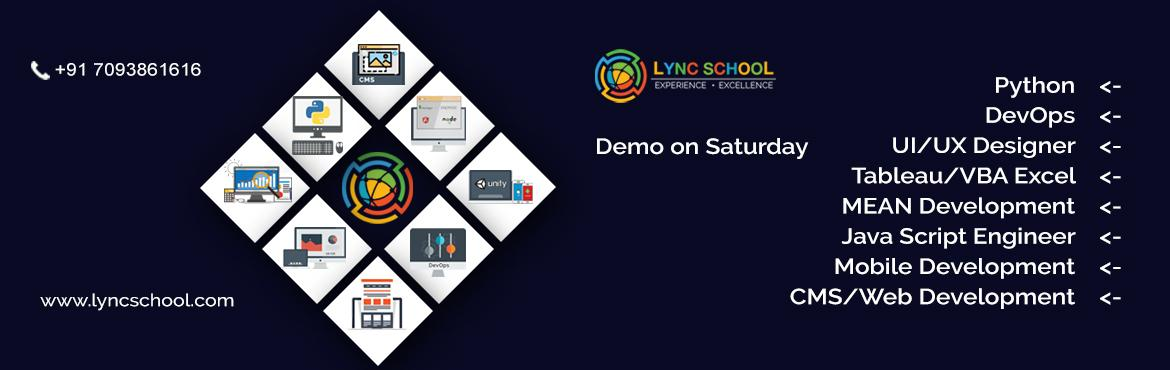 Book Online Tickets for Demo On Forthcoming Technologies, Hyderabad.   Join us People!!! Here is Demo regarding UI/UX designer, Java Engineer, DevOps, Mobile development, CMS/Web Development, Mean Stack Development, Python, Tableau. To know more information about these technologies attend demo on 25th March, 2017