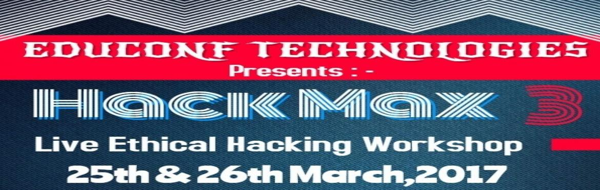 Book Online Tickets for Ethical Hacking workshop Hack Max 3 In P, Patna. EVENT DETAILS HACKMAX ETHICAL HACKING EVENT IN PATNA Workshop on Ethical Hacking by Educonf Technologies Pvt. Ltd.All you need to unlock a door is a right key, but the same key can lock the door again. If Hacking is all about invading world then Ethi