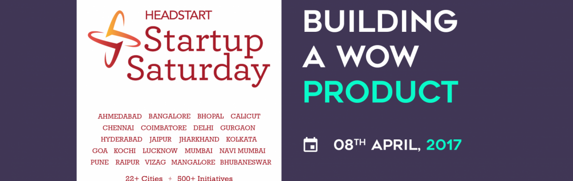 Book Online Tickets for Building A Wow Product - Startup Saturda, Ahmedabad. Design is not only about aesthetics but very much about how it functions and how it solves users\' problems. The product design trends and the pressure from the competition on the market can easily create a trap for anyone to fall into. From thi