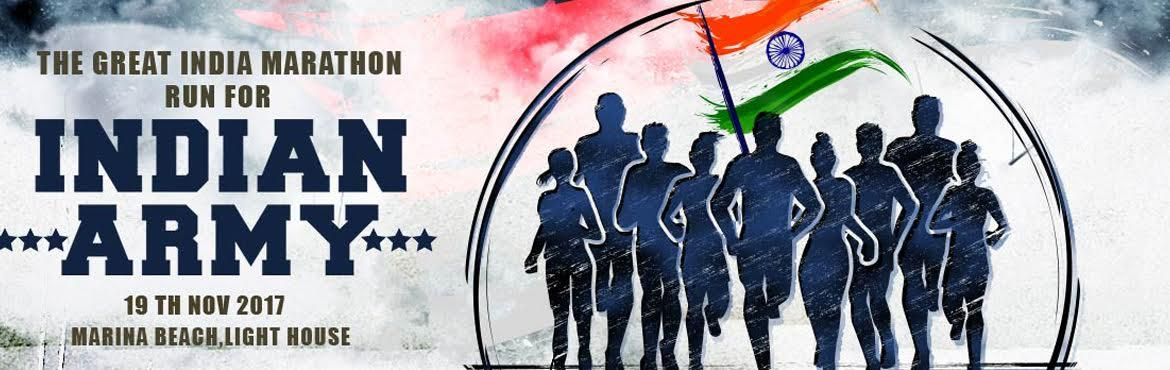 THE GREAT INDIA  MARATHON - RUN FOR INDIAN ARMY Chennai