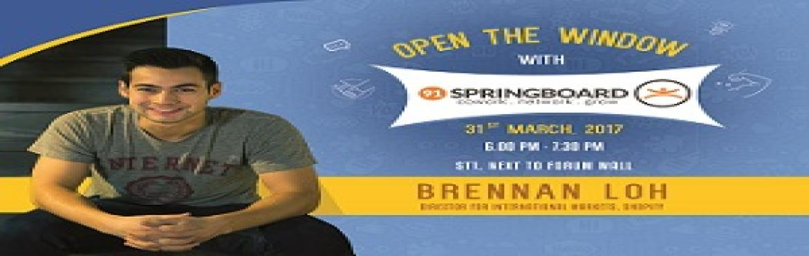 "Book Online Tickets for Open The Window With 91springboard, Bengaluru. ""Open The Window"" with 91springboard is the celebration of individuals. It tries to put spotlight on the experiences that crafts a person. We have read, seen and come across different Entrepreneur journeys. Well, do we really know them we"