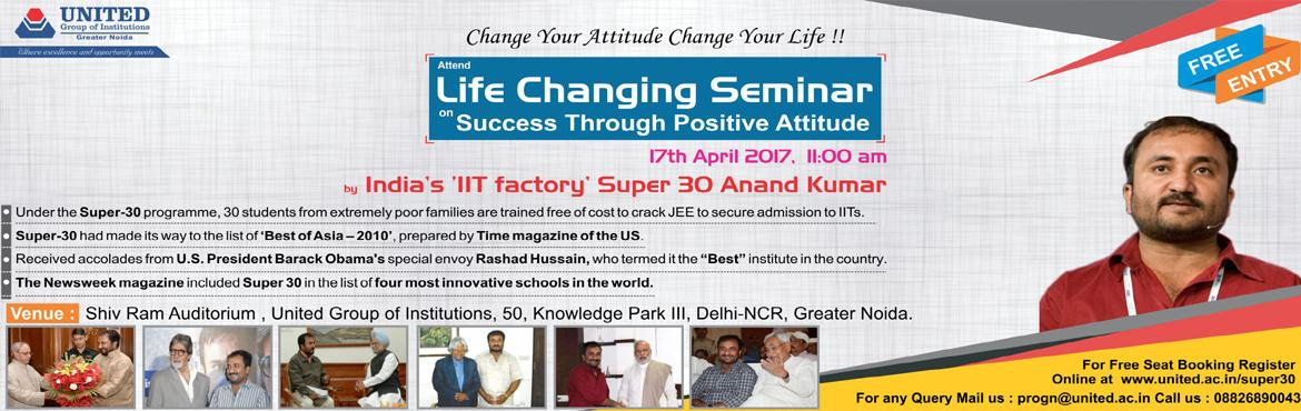 Free Life-Changing Seminar by Super 30 Anand Kumar