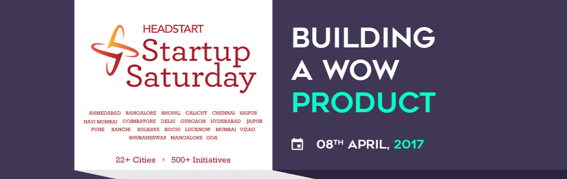 "Book Online Tickets for Building A Wow Product | Startup Saturda, Mumbai. Register here for tickets We are happy to announce the April 2017 edition of Startup Saturday Navi Mumbai themed: ""Building A Wow Product"". Date: 8th April, 2017 Venue: FCRIMS, 4th floor, Agnel Technical Education Complex,"