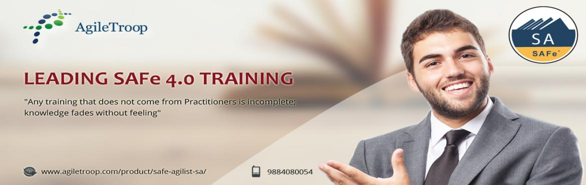 Book Online Tickets for Leading SAFe 4.0 Certification Training, Chennai. SAFe Agilist (SA)4.0 Certification Training OverviewThe SAFe Agilist certification program is for executives, managers and Agile change agents responsible for leading a Lean-Agile change initiative in a large software enterprise. It validates their k