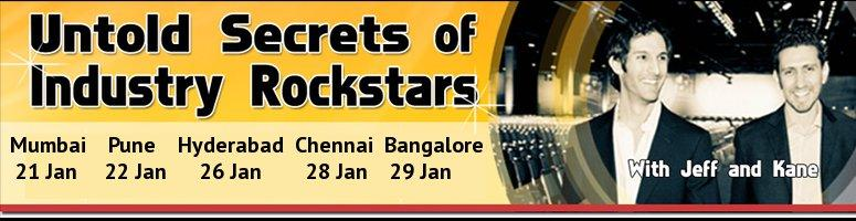 Jeff & Kane present - Untold Secrets of Industry Rockstars - for the FIRST time in INDIA