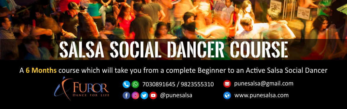 Book Online Tickets for SALSA Social Dancer Course by Furor Pune, Pune. Furor Pune presentsSALSA SOCIAL DANCER COURSE, A 6 Months course which will take you from a complete Beginner to an Active Salsa Social Dancer.Contact 7030891645/ 9823555310 for more details and to book your Free Demo!!!------------------------------