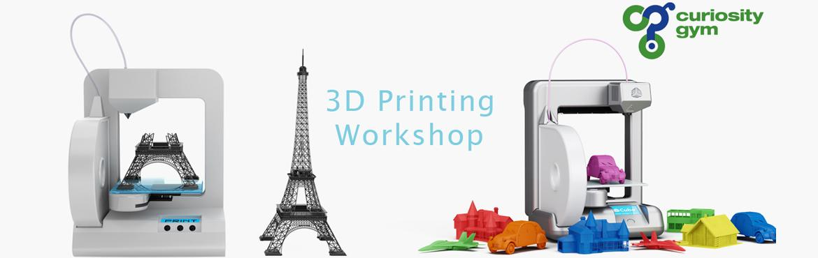 Book Online Tickets for 3D Print Useful Products For Your Daily , Mumbai. In this workshop, you will get a basic understanding of designing an object using Computer aided design and then printing it using a 3D printer. And yes, you\'ll get to take your 3D prints free of charge: everything is included in the training fee. W