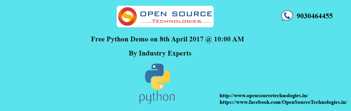 Join Free Python Demo with Industry Professionals - Open Source Technologies