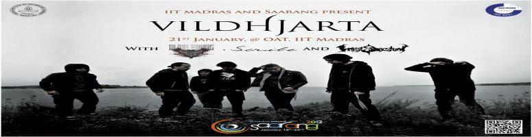 Book Online Tickets for Saarang Rock Show, Chennai. The Saarang Rock Show will see the Swedish metal band Vildhjarta playing live in India for the first time, at the Open Air Theater in the institute on 21st January. Vildhjarta are a progressive metal band, known for having pioneered the \\\'ambidjent