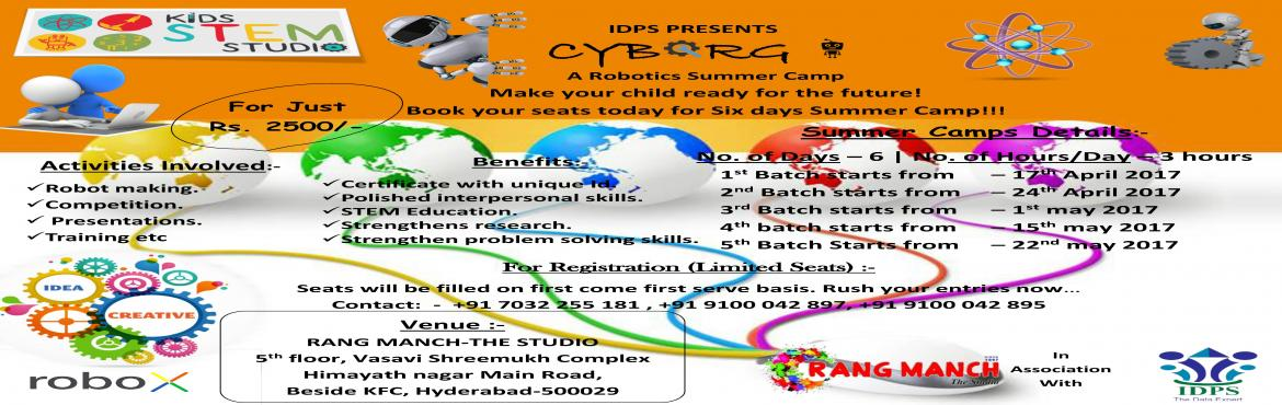 Robotics Summer camp-2017 for Students (8-16) Years age