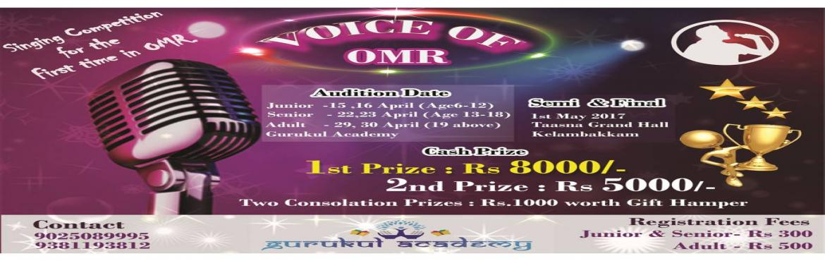 Voice Of OMR - Singing Contest