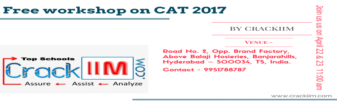 Free 2 Days Workshop On CAT 2017
