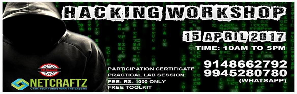 Book Online Tickets for ETHICAL HACKING WORKSHOP, Bengaluru. Overview of the WorkshopOne day Workshop on Ethical Hacking and Cyber Security. The focus of the workshop is to teach you how to protect yourself from the menace of hacking. During the workshop, the primary aim is to introduce you to the current popu