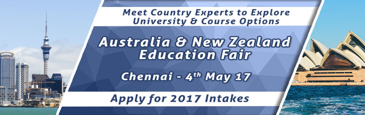 Book Online Tickets for Australia-New Zealand EduFair By The Cho, Chennai. Considered as one of the top three overseas education destinations for international students in the world, Australia offers the best of science, research, technology and the world class academic qualifications!  Whereas, New Zealand is renowned for