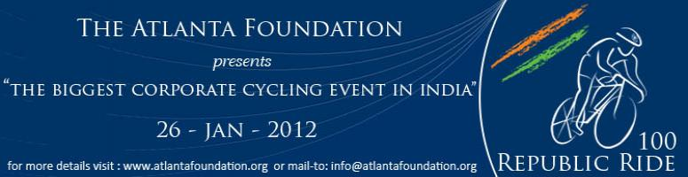 Book Online Tickets for The Republic Ride 2012, Hyderabad. The Atlanta Foundation along with prominent industry forums namely NASSCOM, ITsAP,TiE and AMCHAM and with the support of the Hyderabad Visitors Convention Bureau(HCVB) and the Sports Authority of Andhra Pradesh (SAAP) brings India's biggestcorp