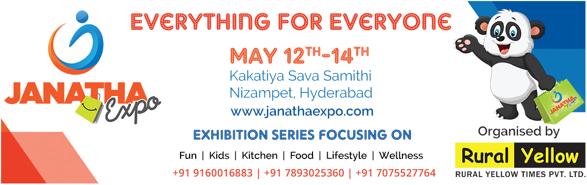 Book Online Tickets for Janatha Expo, Hyderabad.  An International Exhibition focusing on Fun, Food, Kids, Kitchen, Lifestyle, Wellness etc