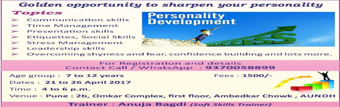 Book Online Tickets for Soft Skills Camp for kids Age 7 to 12, Pune.  Lots of new things to learn in fun and interactive way workshop based sessions on following topics communication skills ettiquites Social Skills Presentation skills Time managements Ovecoming Shyness and Confidence boost up. ALl these and lots