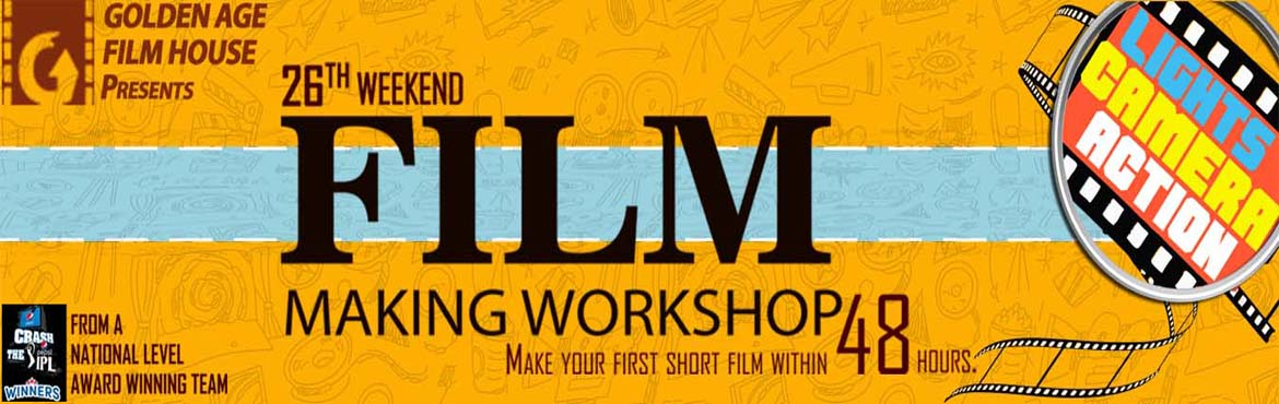 Book Online Tickets for Golden Age Film House 26th Weekend Filmm, Bengaluru. Make your first short film within 48 hours. It is a two-day film-making workshop. They will cover the basics of screenplay writing, story boarding, casting, acting, cinematography, direction, editing, dubbing and music. Then, they will also guide the