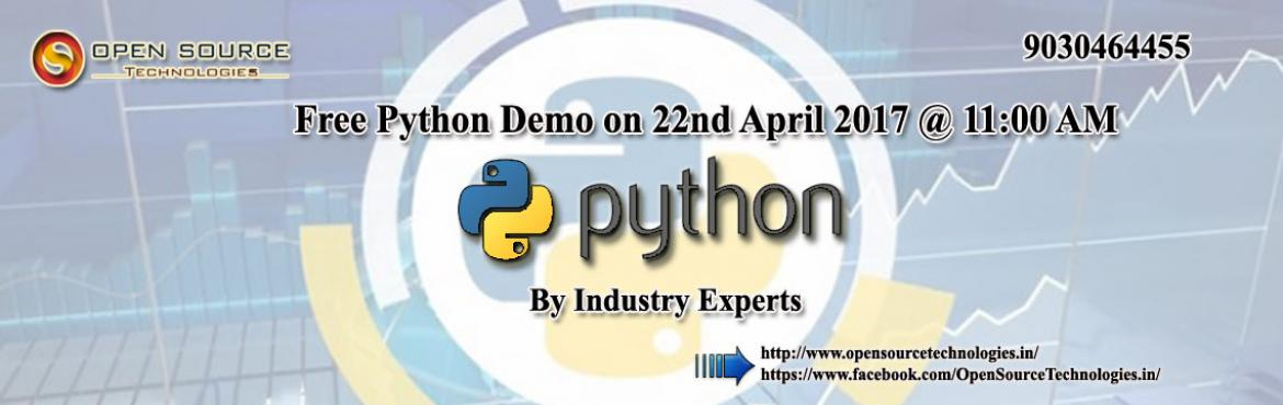 Attend Free Python Demo Sessions with Industry Veterans at Open Source Technologies