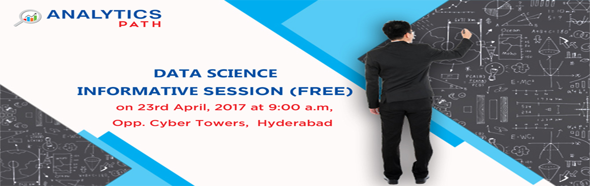 "Book Online Tickets for Join Free Data Science / Big Data Analyt, Hyderabad. Step into the World of Data Science / Big Data Analytics Industry Data Scientist is considered as the ""the sexiest job title of the 21st century"".  Why data scientists are in such a high demand these days and what do t"