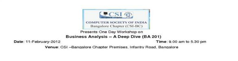 Business Analysis - A Deep dive (BA 201)