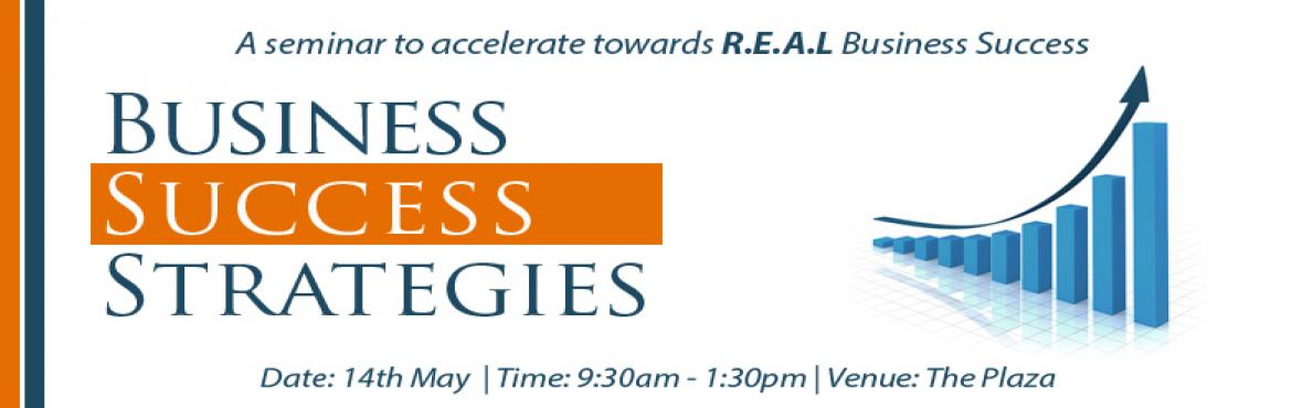 Book Online Tickets for Free Seminar: Business Success Strategie, Hyderabad. Success in business & life is when opportunity meets preparation! The question is are we prepared?  During the seminar you will learn the exact strategies used by the successful business owners to accelerate their business growth.  The seminar is