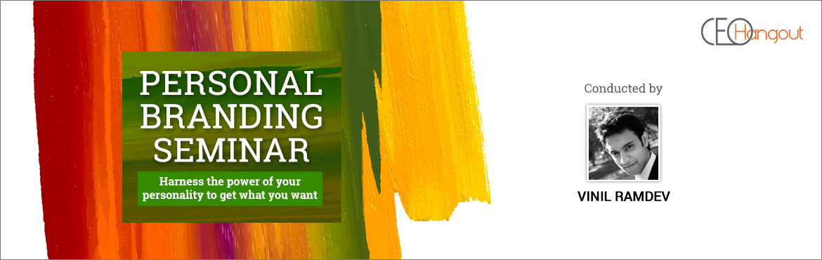 Book Online Tickets for Personal Branding Seminar by Vinil Ramde, Bengaluru. Whether we believe it or not, we all have an aura, a reputation and a way in which others around us perceive us.   All of us are similar in many ways but we are also unique in some ways. What makes each of us different and unique is what we call