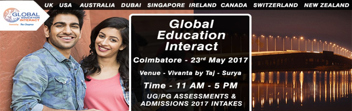 Book Online Tickets for Global Education Fair 2017 in Coimbatore, Coimbatore.  The Wait is over as the biggest Global education fair of 2017 arrives in \