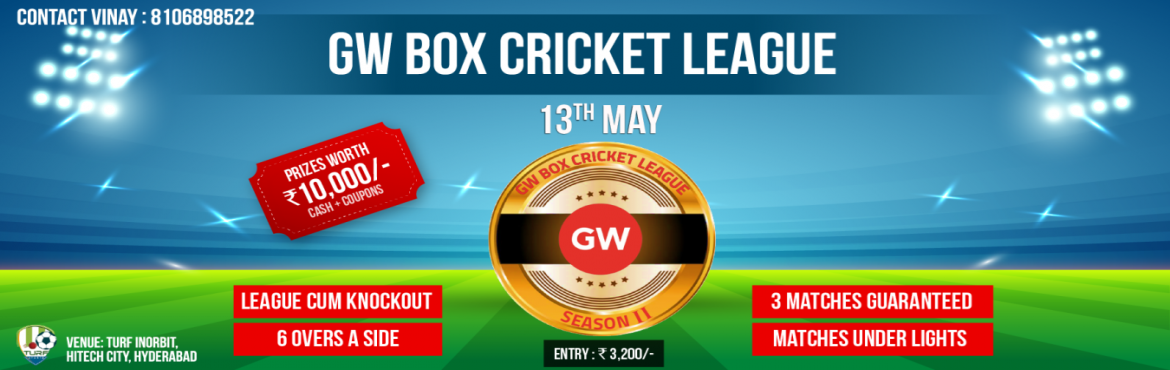 GW Box Cricket League 2