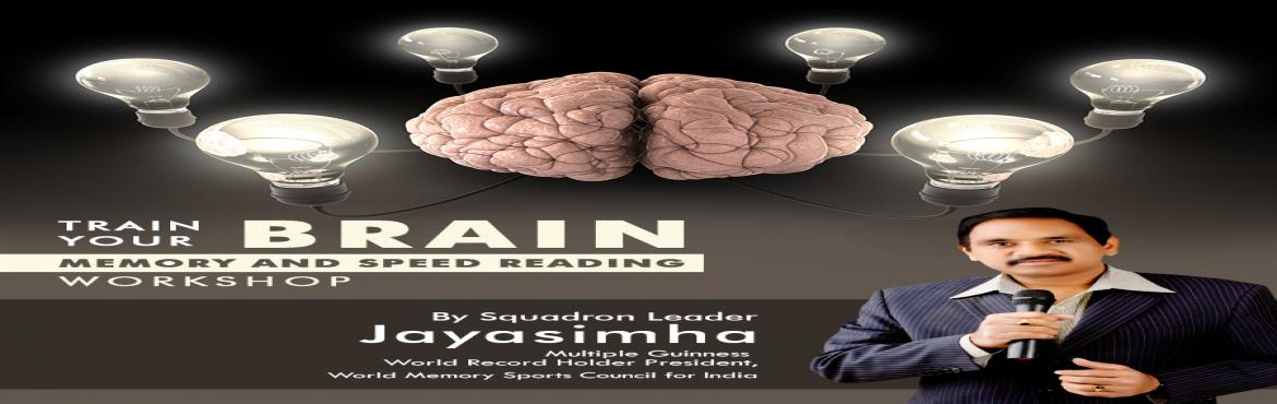 Book Online Tickets for Memory and Speed Reading Workshop by Squ, Hyderabad.  Squadron Leader Jayasimha will be conducting a workshop on Memory and Speed Reading on 10,11 and 12 May 2017 from 9 am to 5 pm at Hotel Sitara Grand, L B Nagar Cross Roads, Hyderabad. You will learn how to remember words, long answer questions,