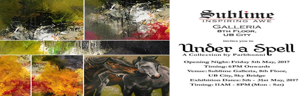 Book Online Tickets for Under a Spell, a Captivating Art Exhibit, Bengaluru. Parbbonni is an architect turned artist, earning her Bachelor\'s degree in Architecture from Siddaganga Institute of Technology, Tumkur. She spent the early years of her career pursuing Graphic Design. Driven by her passion for colours, shapes and na