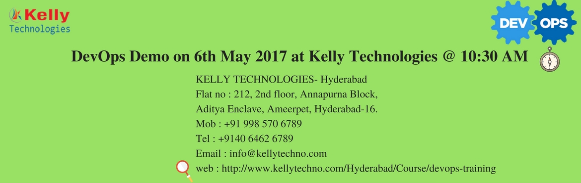 Kelly Technologies are the most leading DevOps Training Institute in Hyderabad that offers quality subject skills with the main focus to change and in