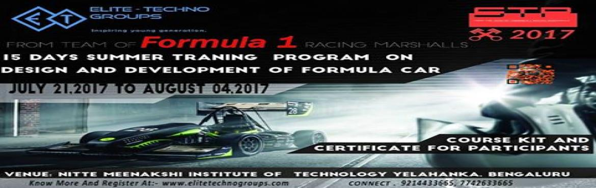 National Level Sumer internship Program on Formula (supra) Design And Developement