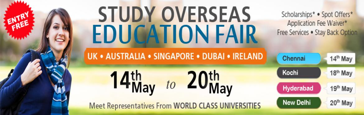 Book Online Tickets for Study Abroad Education Fair, Hyderabad, Hyderabad.  Thinking to pursue your studies abroad?   Study Overseas Global is offering free counselling to students aspiring to study in the United Kingdom, USA, Canada, Australia, Singapore, New Zealand, Switzerland, Dubai, Ireland and Malaysia. Com
