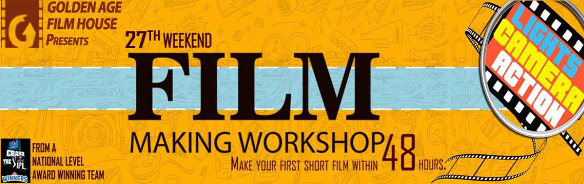 Book Online Tickets for GOLDEN AGE FILM HOUSE S 27TH WEEKEND FIL, Bengaluru.  Make your first short film within 48 hours. It is a two-day film-making workshop. They will cover the basics of screenplay writing, story boarding, casting, acting, cinematography, direction, editing, dubbing and music. Then, they will also gui
