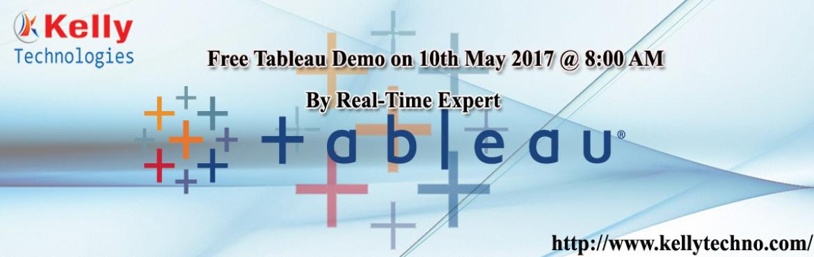 Attend Free Tableau Demo Sessions at Kelly Technologies