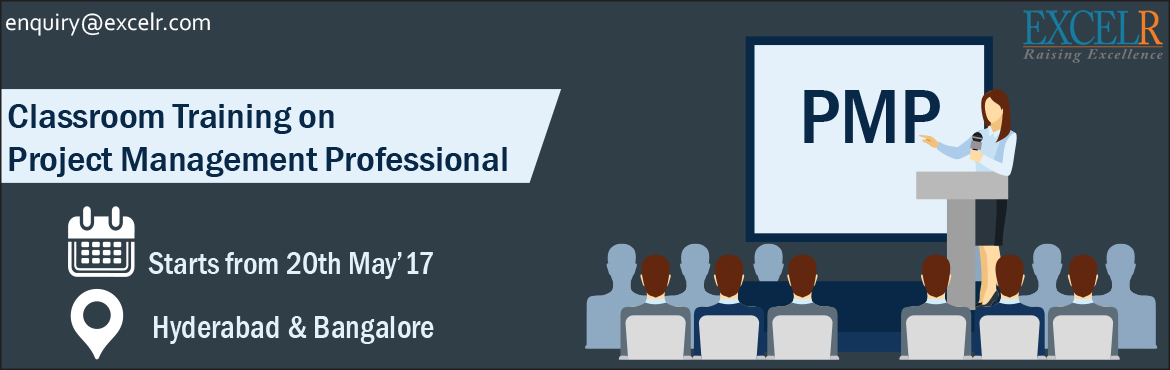 Book Online Tickets for PMP Classroom Training, Hyderabad. PMP® – Project Management Professionalis a credential managed byProject Management Institute, USA (PMI). PMP® is globally recognized certification which demonstrates one's competency to lead, direct and manage projects