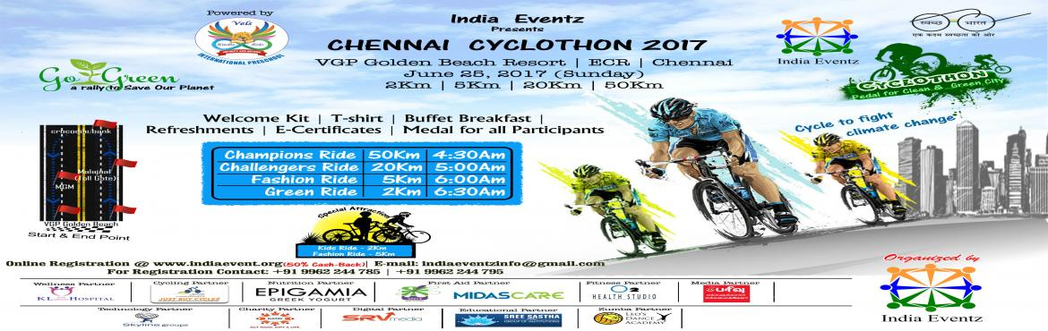Book Online Tickets for Chennai Cyclothon Vgp Golden Beach Resor, Chennai. Go Green Cycling is a concept of cycling to work Encouraged & Supported by Group of Professionals from various Background. We not only cycle to work but also organize Go Green Campaign ride appealing to the community to use bicycles for regu