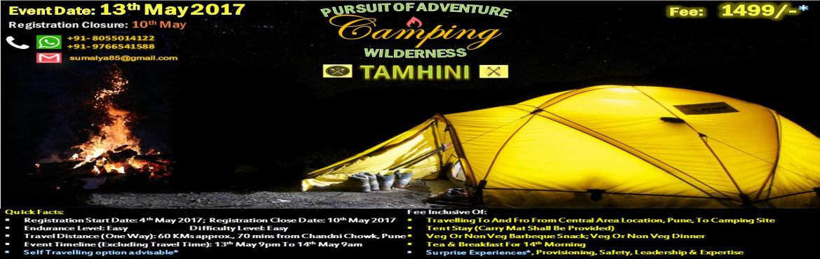 Book Online Tickets for Camping at Tamhini, Tamhini.  CALL US AT 8055014122 OR 9766541588 TO KNOW MORE & BEFORE YOU MAKE ONLINE PAYMENT Tell Us Your Story…   Underneath The Starlit Sky   Amongst New Friends   !! BE MORE YOU  !!   Quick Facts: Registration Start