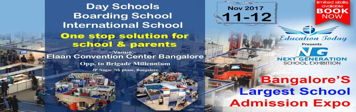 Book Online Tickets for Next Gen School Expo and Purple Cow Fest, Bengaluru.  It is a venture of VAK Education Today which will for the first time bring the eminent names in the education industry under one roof. NexGen School Expo which will showcase top brands under one roof where the parents get a chance to meet the s