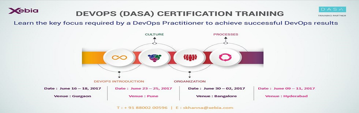 Book Online Tickets for DevOps Fundamentals (DASA Certification), Pune. DevOps Fundamentals (DASA Certification) DevOps is the future of IT today! The 3-day course provides an introduction to DevOps — the cultural and professional movement that stresses communication, collaboration, integration and, of