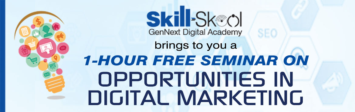 Book Online Tickets for  Opportunities In Digital Marketing , Mumbai.  With many businesses moving online, there is now a new wave of opportunities available for marketing these businesses. Many Digital Marketing opportunities present themselves in form of careers at various levels, right from entry level to Strat